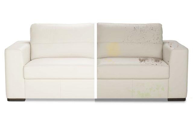Чистка кожаных диванов от пятен на дому Днепр