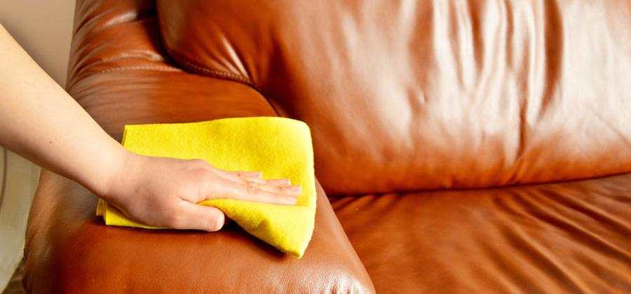 Чистка кожаной мебели на дому
